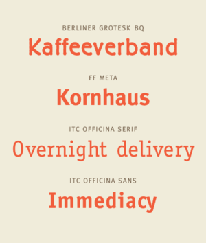 Erik Spiekermann - Specimens of typefaces by Erik Spiekermann