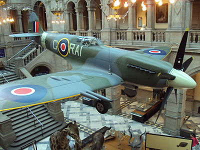 The Spitfire in the Kelvingrove Museum