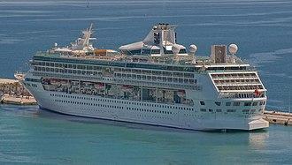 Marella Discovery - Image: Splendour of the Seas (ship, 1995) IMO 9070632; in Split, 2012 04 27