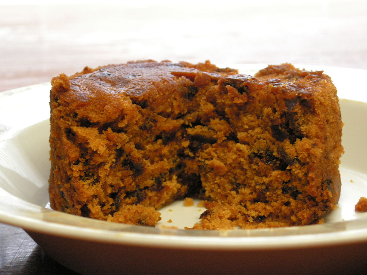 British Christmas Cake.Spotted Dick Wikipedia