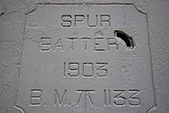 Spur Battery plaque, Gibraltar