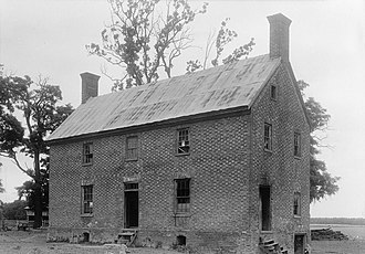 National Register of Historic Places listings in Essex County, Virginia - Image: St. Anne's Parish Glebe House, U.S. Route 17 near Route 632, Champlain vicinity (Essex County, Virginia)