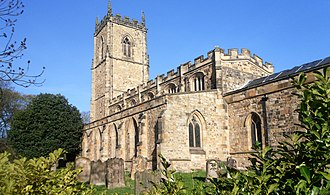 St Oswald's Church, Durham - St Oswald's from Church Street