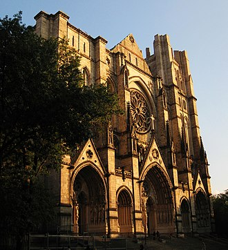 Cathedral of Saint John the Divine - The Western facade, including the Rose Window