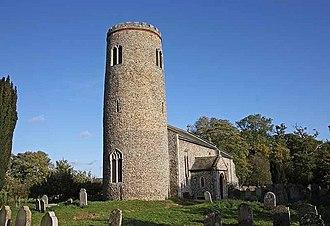 Morningthorpe - Image: St John the Baptist, Morningthorpe, Norfolk geograph.org.uk 1029242
