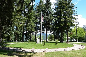 Great Fire of 1910 - Image: St Maries 1910 Fire Memorial 1 St Maries Idaho