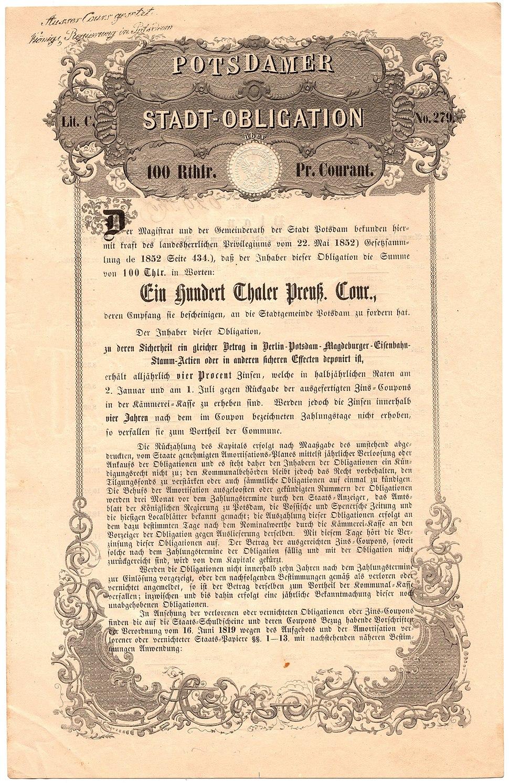 Stadt Potsdam 1852