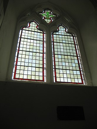 St Peter's Church, Cambridge - Image: Stained glass window at St Peter's Church, Cambridge 002