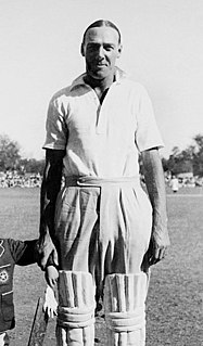Stan Nichols Cricket player of England.