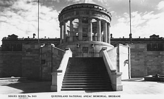 Shrine of Remembrance, Brisbane - Anzac Memorial, Brisbane, ca. 1939