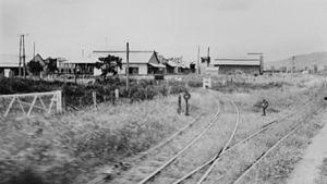 Yeppoon railway station - Railway tracks at Yeppoon, circa 1938