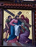 Station 6 Veronica wipes the face of Jesus, St. Nicholas Church in Elbl?g.JPG