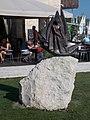 Statue of Moco, the young seaman. Silver yard. - Zákonyi Street, Balatonfüred.JPG