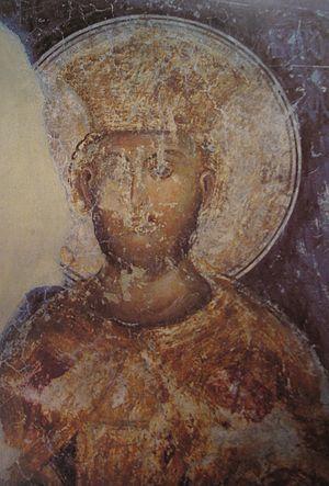 Kalenić monastery -  Fresco of Stefan Lazarević in Kalenić monastery