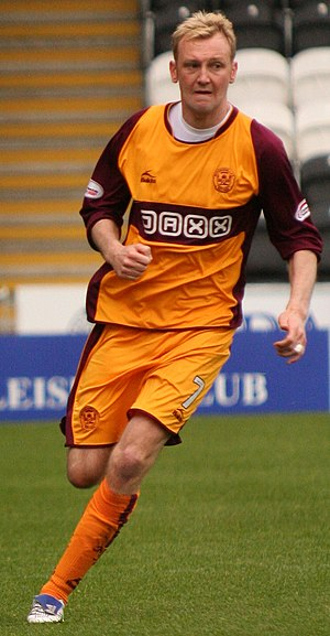 Stephen Hughes (footballer, born 1982) - Hughes playing for Motherwell