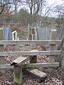 Stile, level crossing and stairs near Chiddingstone - geograph.org.uk - 1700029.jpg