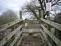 Stiles to a footpath that crosses a railway line - geograph.org.uk - 701891.jpg