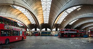 1952 in architecture - Stockwell Garage - bravura use of reinforced concrete