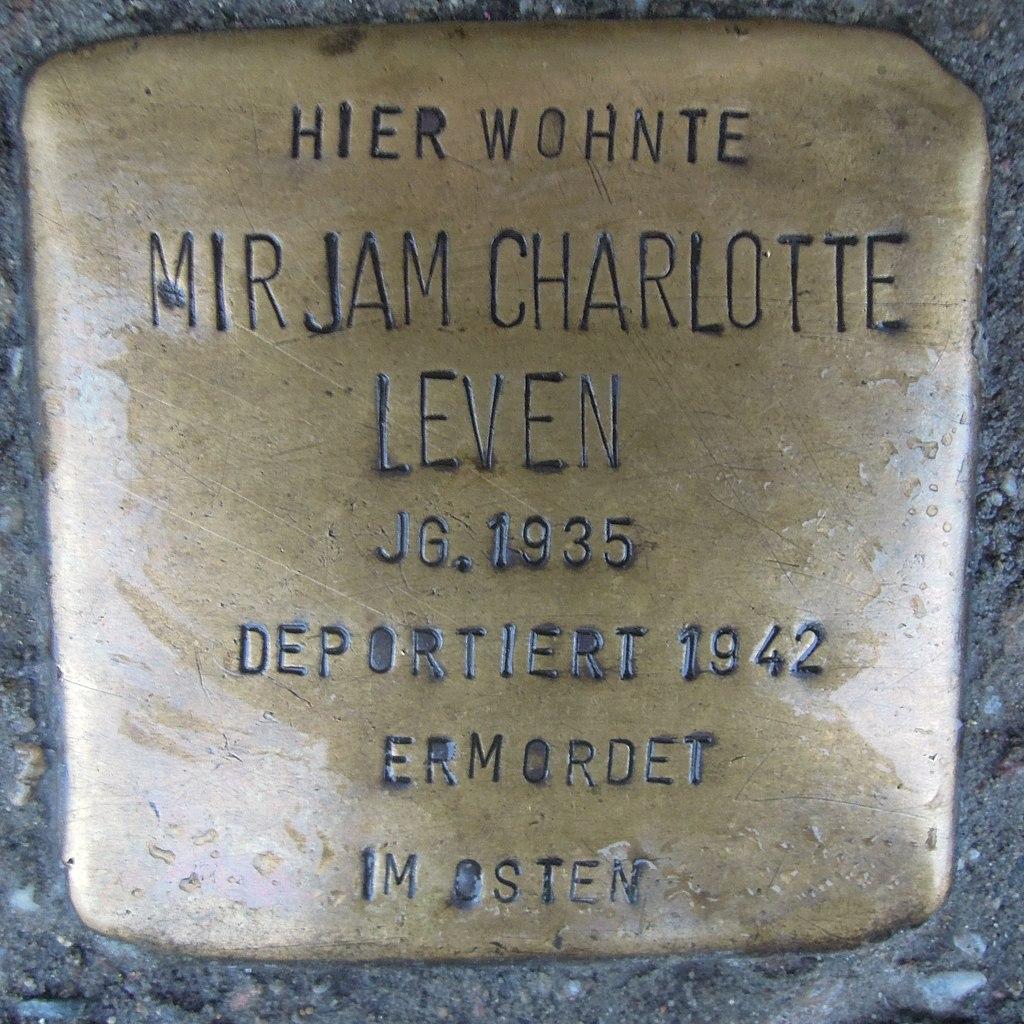 Stolperstein für Mirjam Charlotte Leven