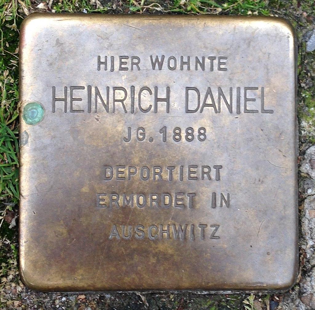 Stolperstein Haltern Rekumer Straße 5 Heinrich Daniel