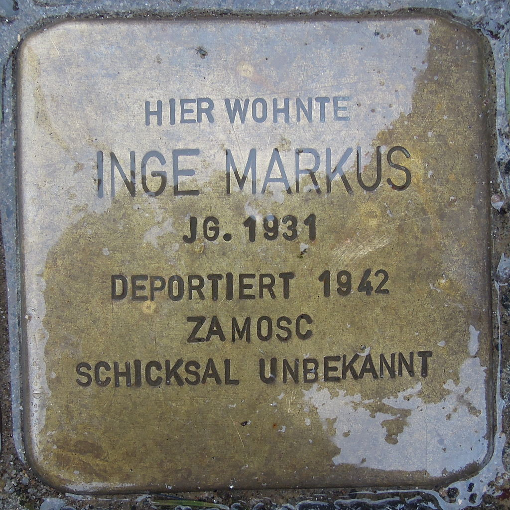 Stolperstein für Inge Markus