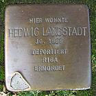 Stolperstein für Hedwig Langstadt