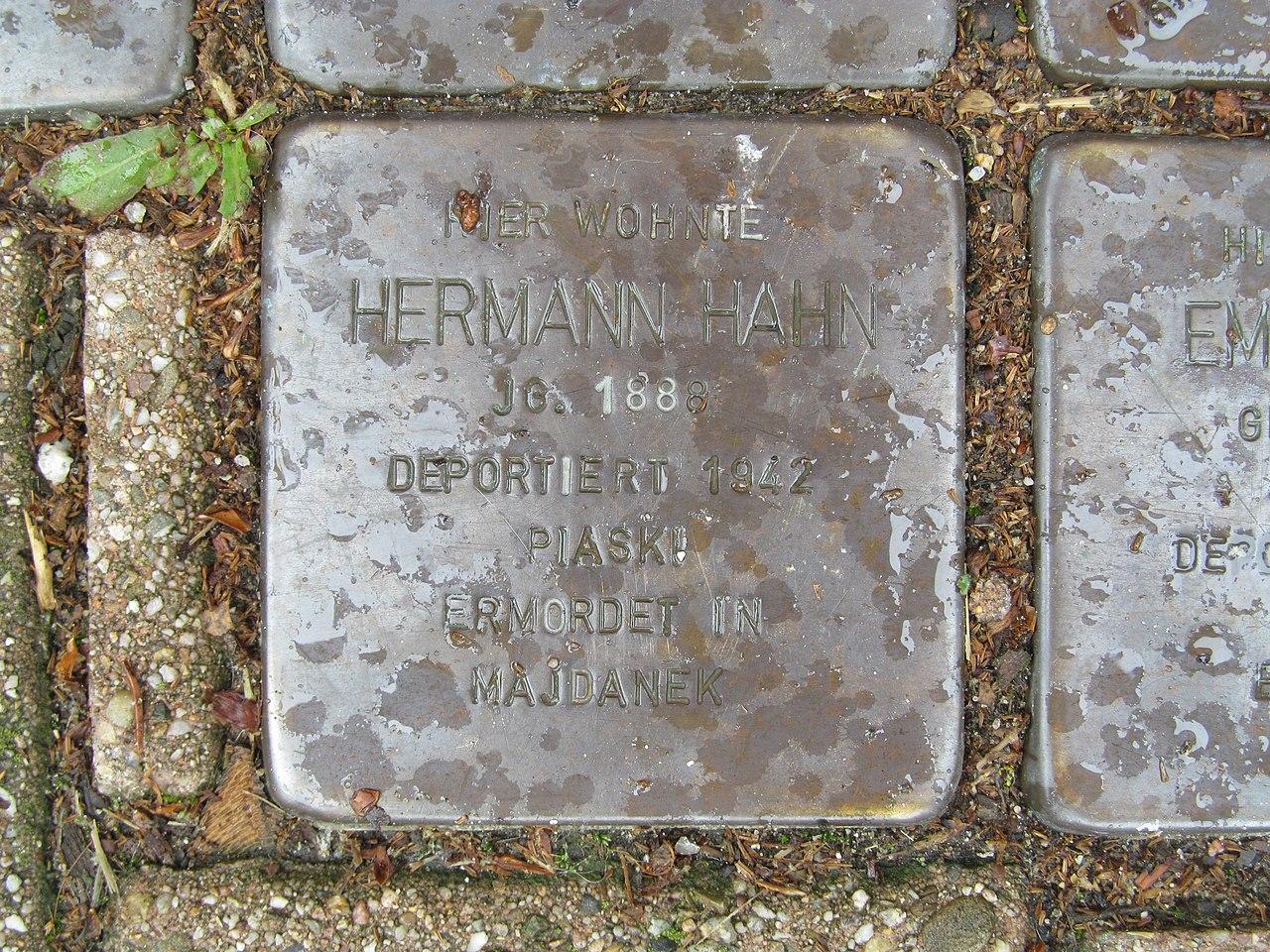 Stolperstein für Hermann Hahn
