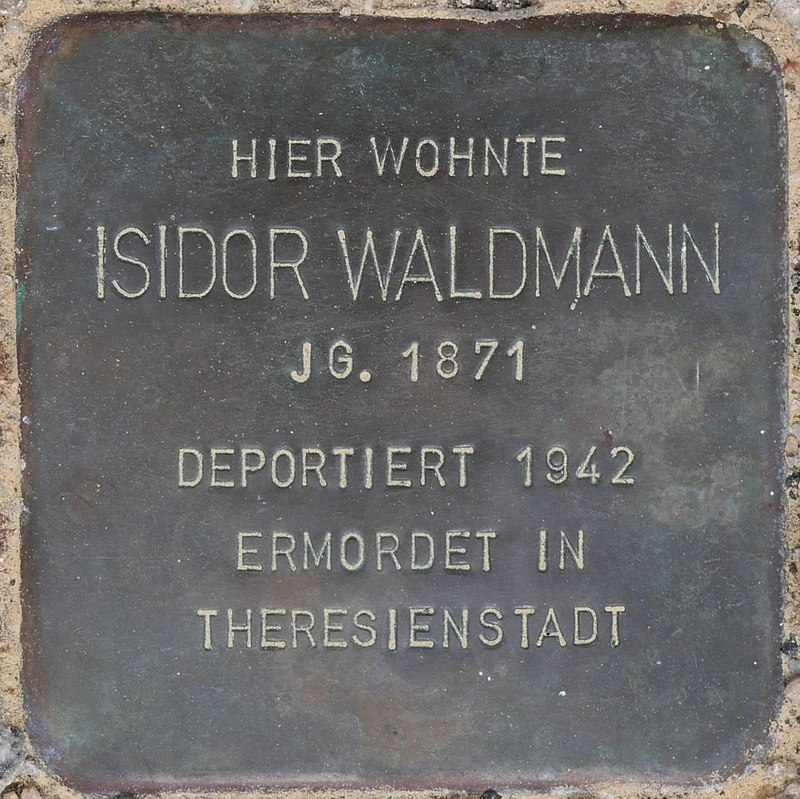 Stolperstein für Isidor Waldmann