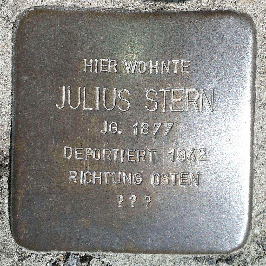 Stolperstein Montabaur Alleestraße 8a Julius Stern