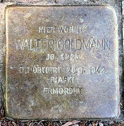 Photo of Walter Goldmann brass plaque