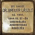 Stolperstein für Dr. Laszlo Breuer (Szolnok).jpg