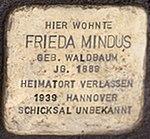 Stolpersteine Kornstr 5 Frieda Mindus