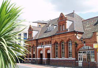 Stratford High Street DLR station - Extant station entrance to Stratford Market