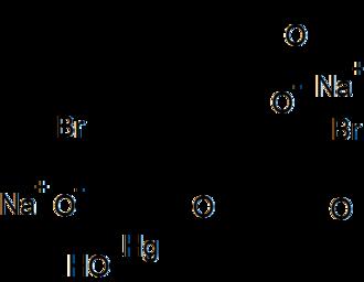 Merbromin - Image: Structure of Merbromin