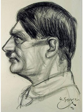 Emil Stumpp - Portrait of Hitler (1933)