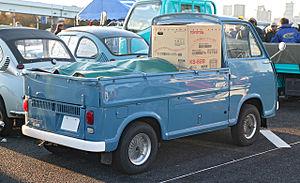 Subaru Sambar - The rear-view of a second generation truck