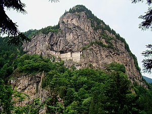Pontic Mountains - Sümela Monastery on the Pontic Mountains