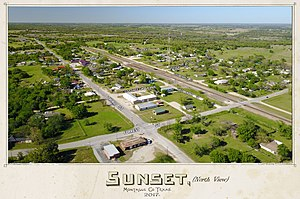 Sunset, Montague County, Texas - Sunset Texas (North View) Photo by Michael H. Eichler - 2017