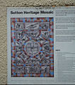 Sutton, Surrey London - Sutton heritage mosaic - information board.JPG