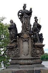 Statues of Saints Barbara, Margaret and Elizabeth, Charles Bridge
