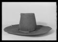 Svart hatt av filt - Livrustkammaren - 70160.tif