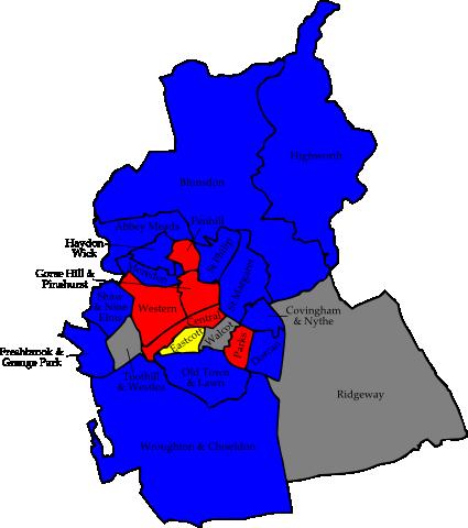 Swindon 2006 election map
