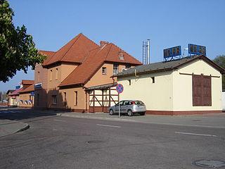 railway station in Świnoujście, Poland