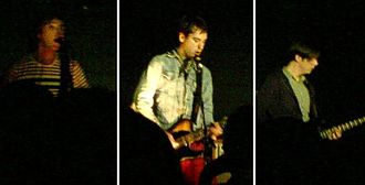 Switches (band) - Switches performing in April 2007. Left to right: Ollie Thomas, Matt Bishop and Max Tite.