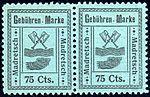 Switzerland Madretsch 1903 revenue 75c - 4 pair.jpg