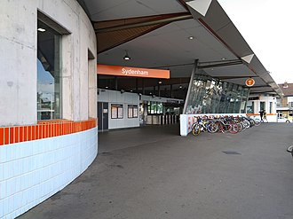 Sydenham railway station, Sydney - Railway Road entrance in October 2017.
