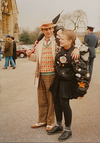 Sylvester McCoy - With Sophie Aldred during filming of Remembrance of the Daleks (1988)