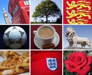 flags, icons or cultural expressions that are emblematic, representative or otherwise characteristic of England or English culture