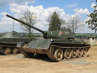 T-44 - A restored T-44 tank.