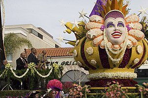 Crop art - Rose Bowl Parade, Tournament of Roses, New Orleans float
